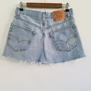 Vintage Levi's 550 Relaxed Fit Denim Mini Skirt